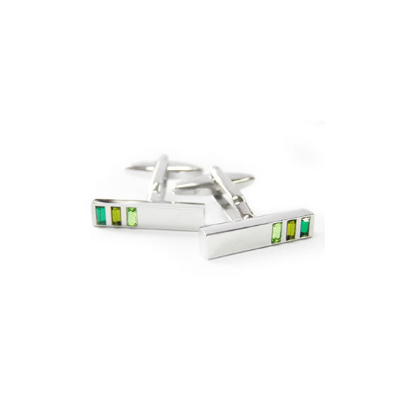 CUFFLINKS SHIMMERING GREENS