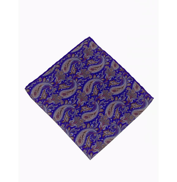 SILK POCKET SQUARE (PAISLEY/MULTI)