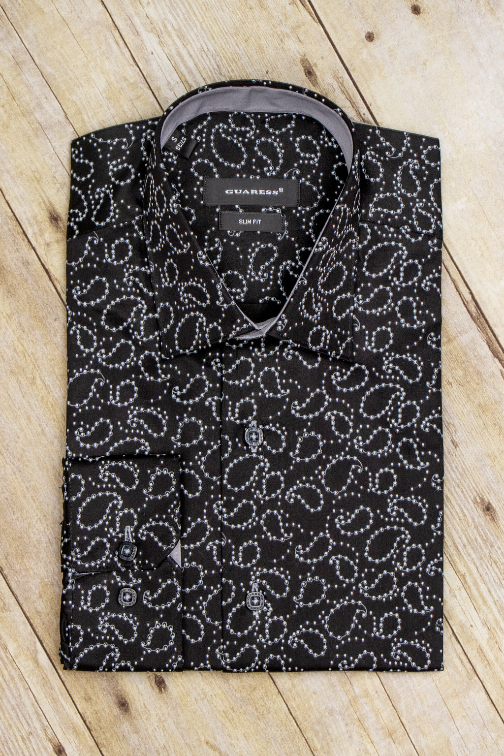SHIRT BLACK PAISLEY