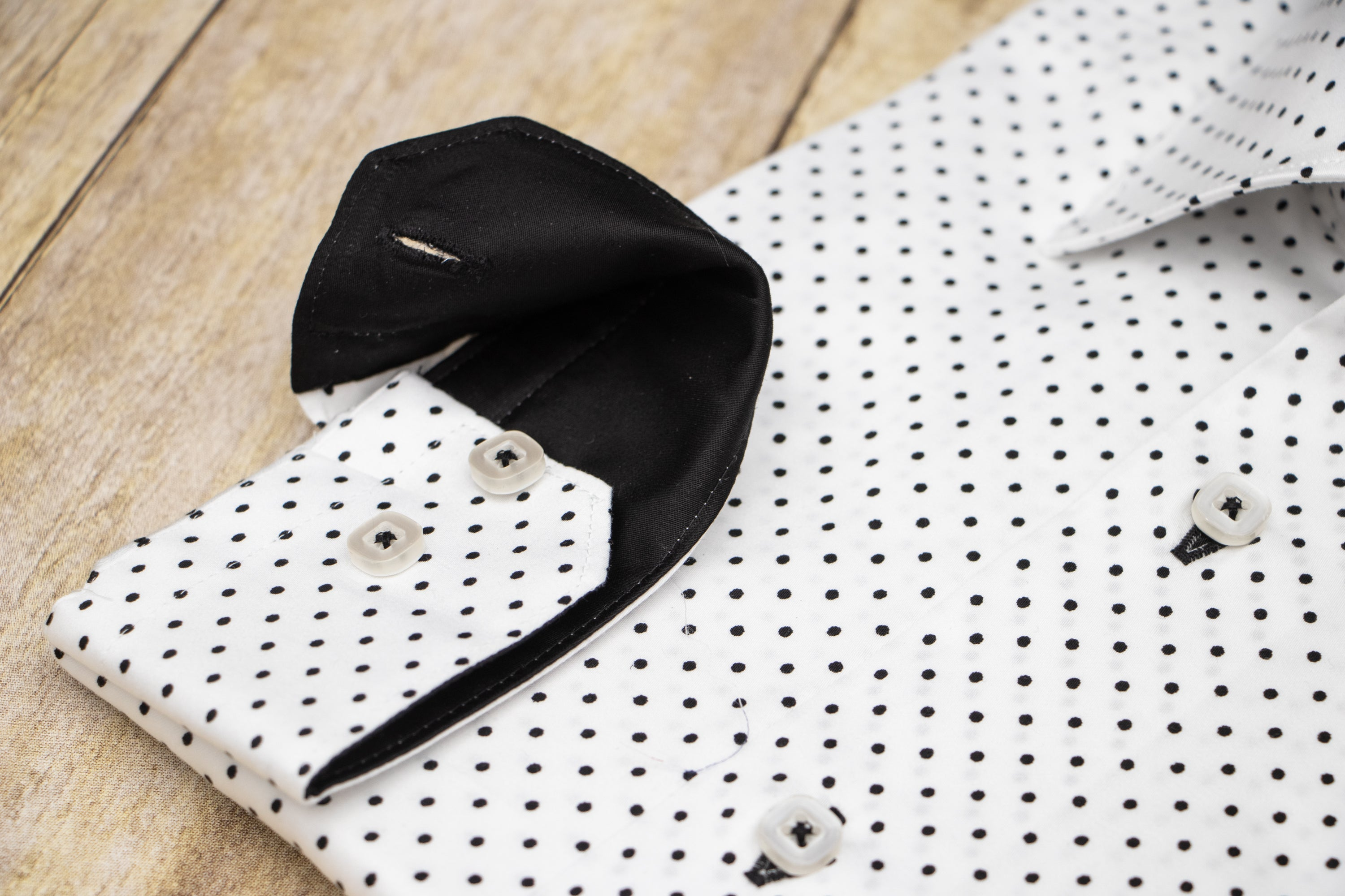 SHIRT WHITE POLKA DOT