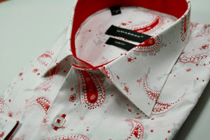 Guaress - White/Red Paisley