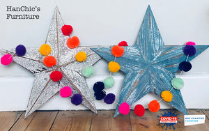 Rainbow Pom Pom Garlands NHS