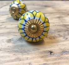 Sunflower Yellow Vintage Drawer Pull