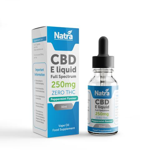 Natra CBD Vape Oil Peppermint