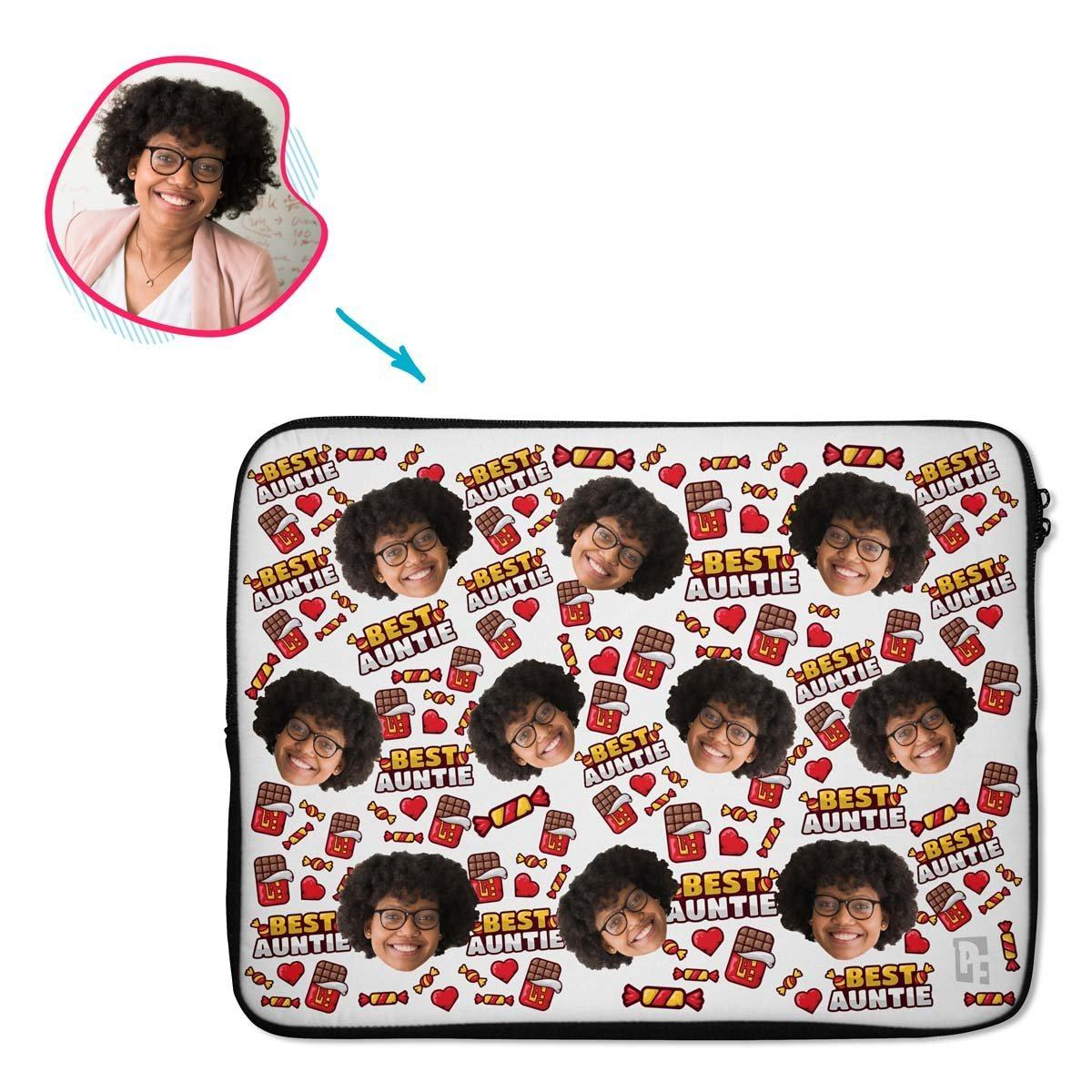 Auntie Personalized Laptop Sleeve
