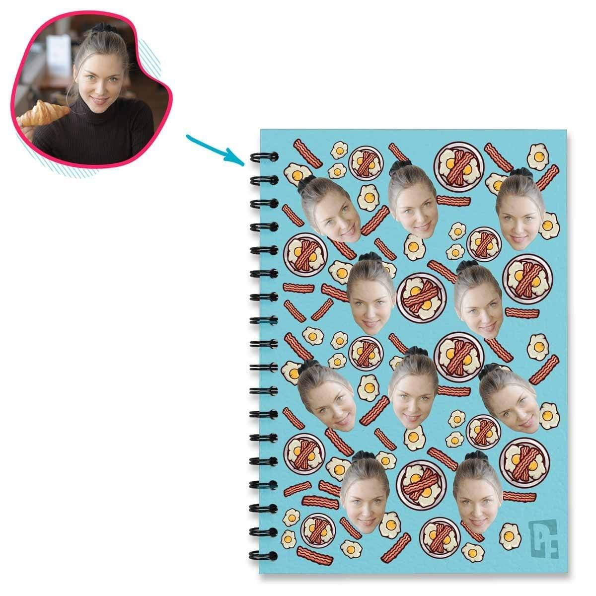 Bacon and Eggs Personalized Notebook