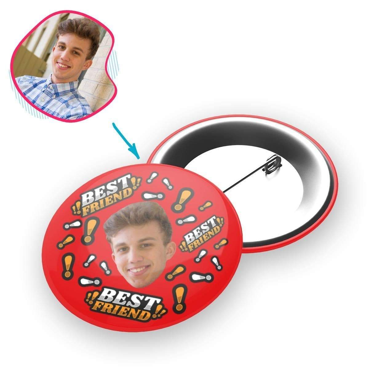 Best Friend Personalized Pin Button
