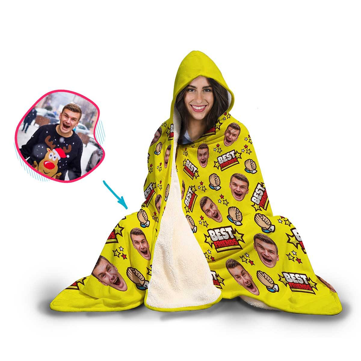 Best Friends Personalized Hooded Blanket