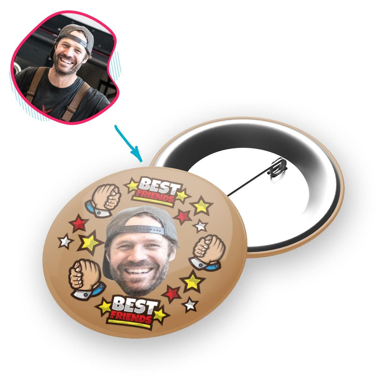 Best Friends Personalized Pin Button