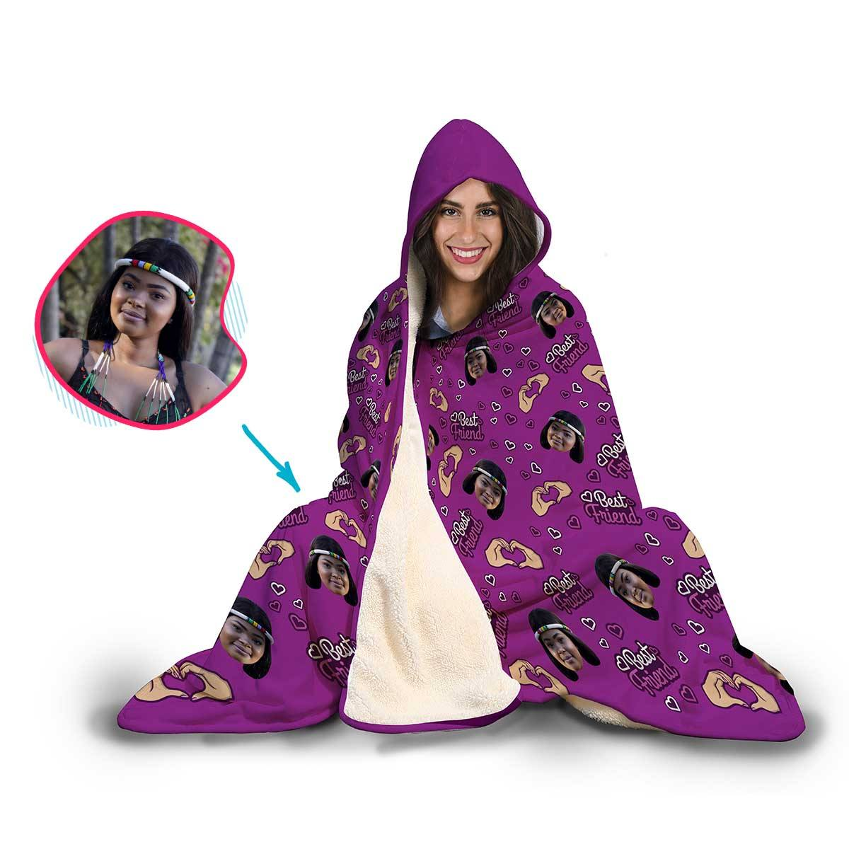 BFF for Her Personalized Hooded Blanket