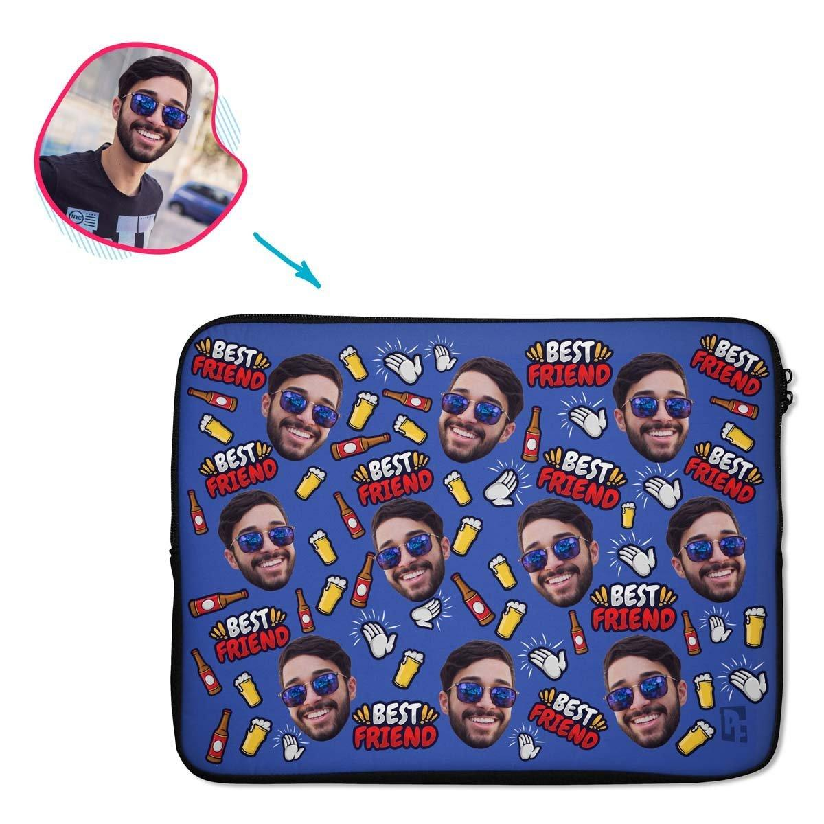 BFF for Him Personalized Laptop Sleeve