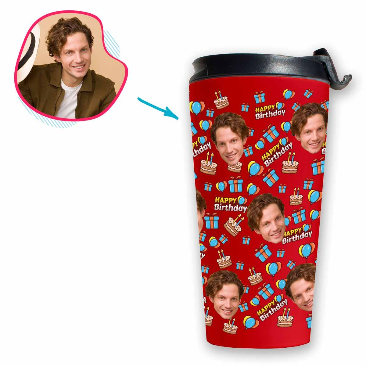 Birthday Personalized Travel Mug