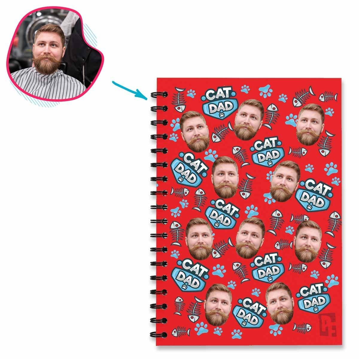 Cat Dad Personalized Notebook