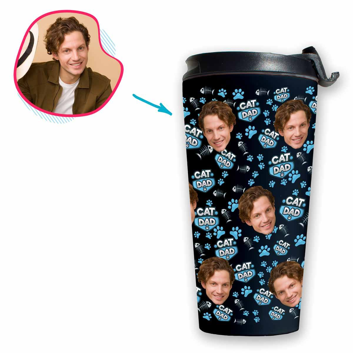Cat Dad Personalized Travel Mug