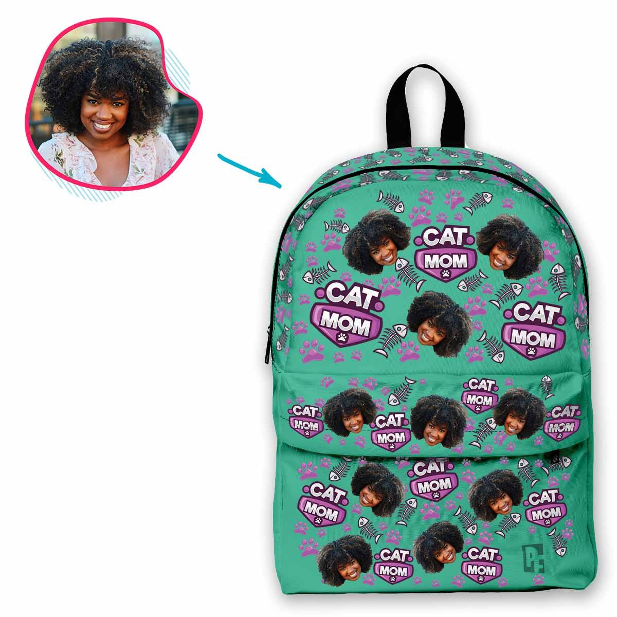 Cat Mom Personalized Classic Backpack