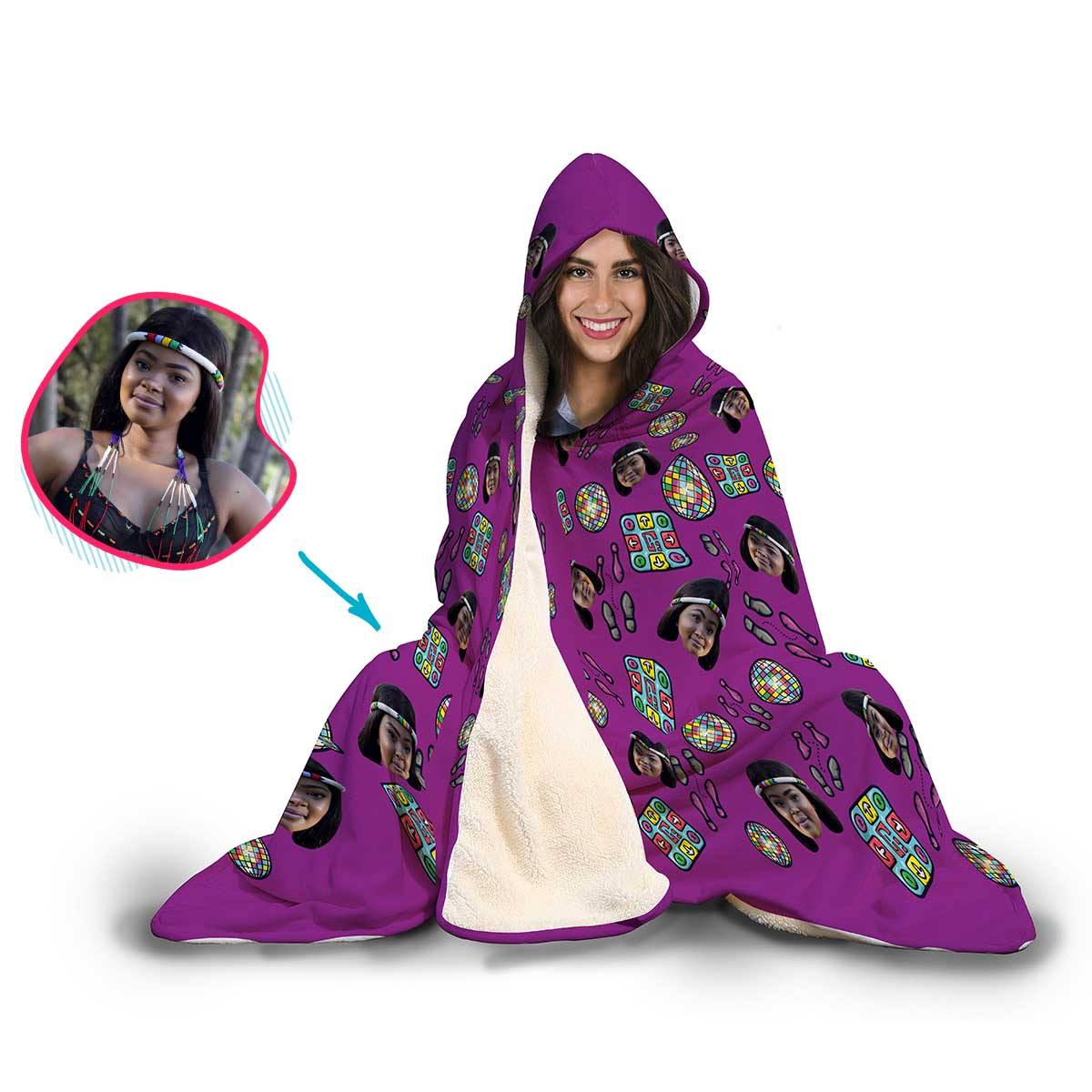 Dancing Personalized Hooded Blanket