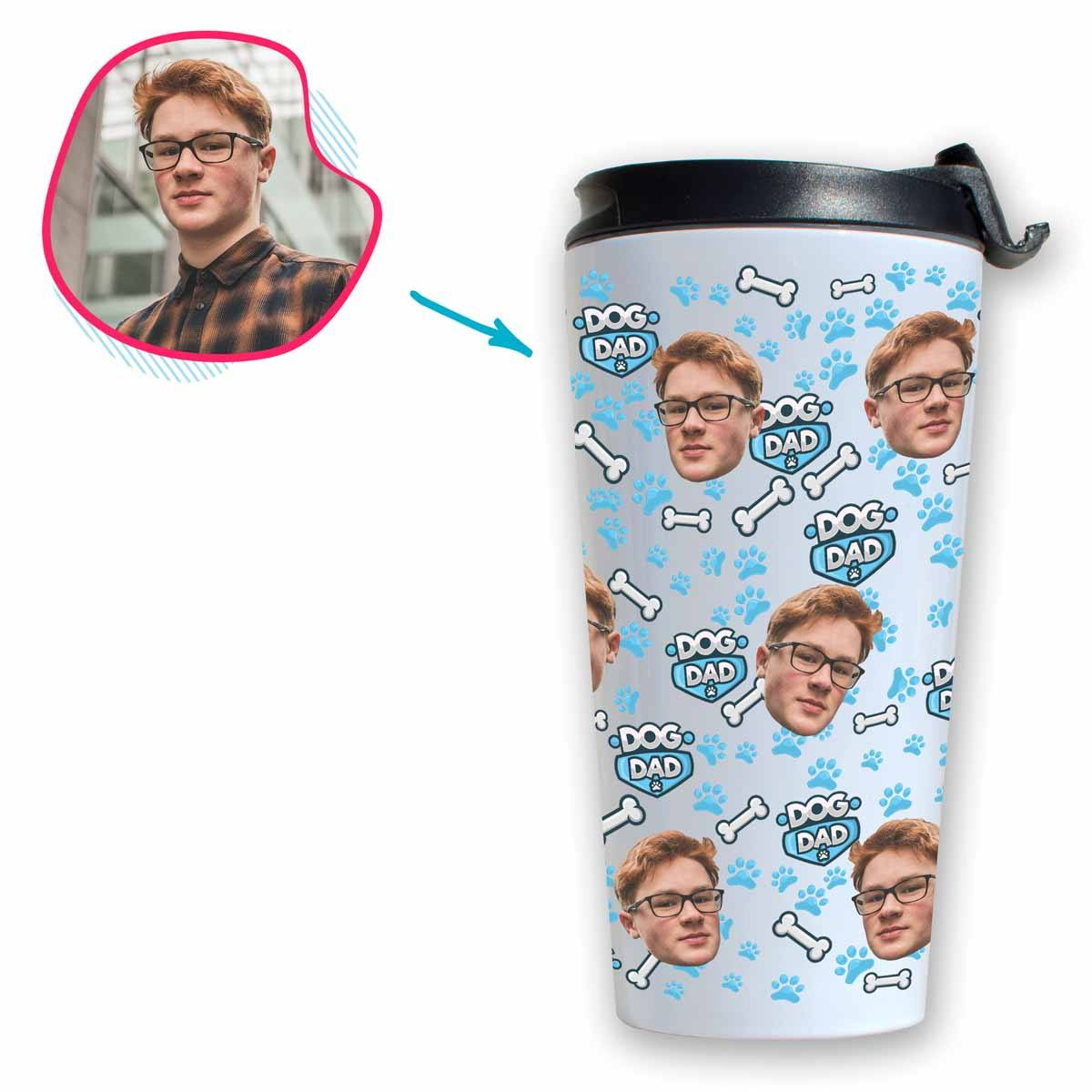 Dog Dad Personalized Travel Mug