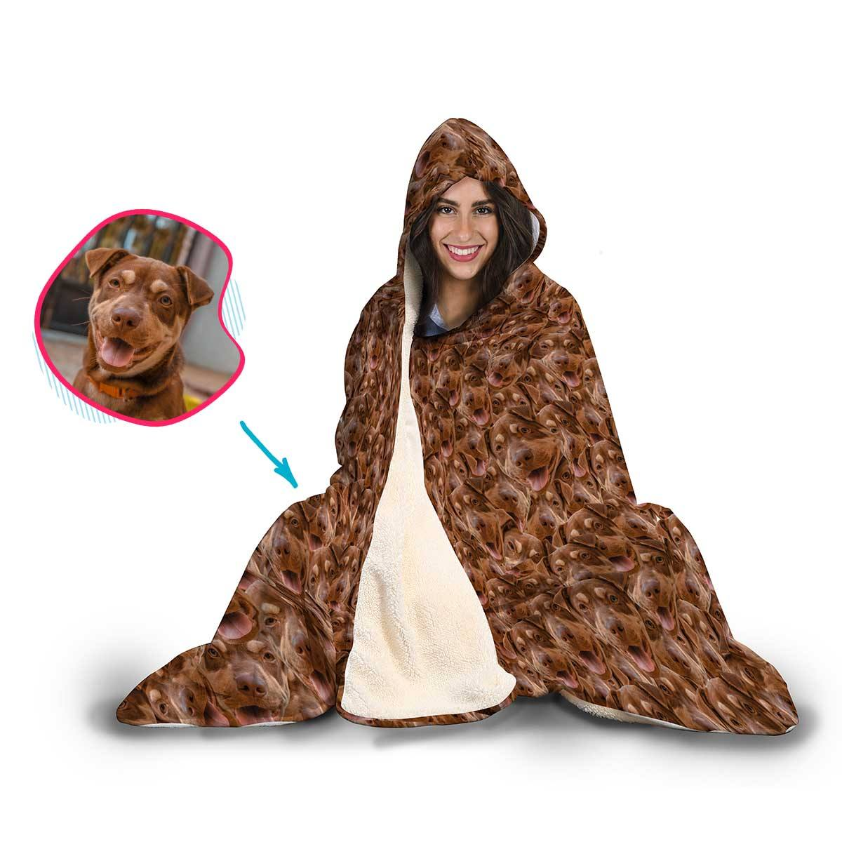 Dog Mash Personalized Hooded Blanket