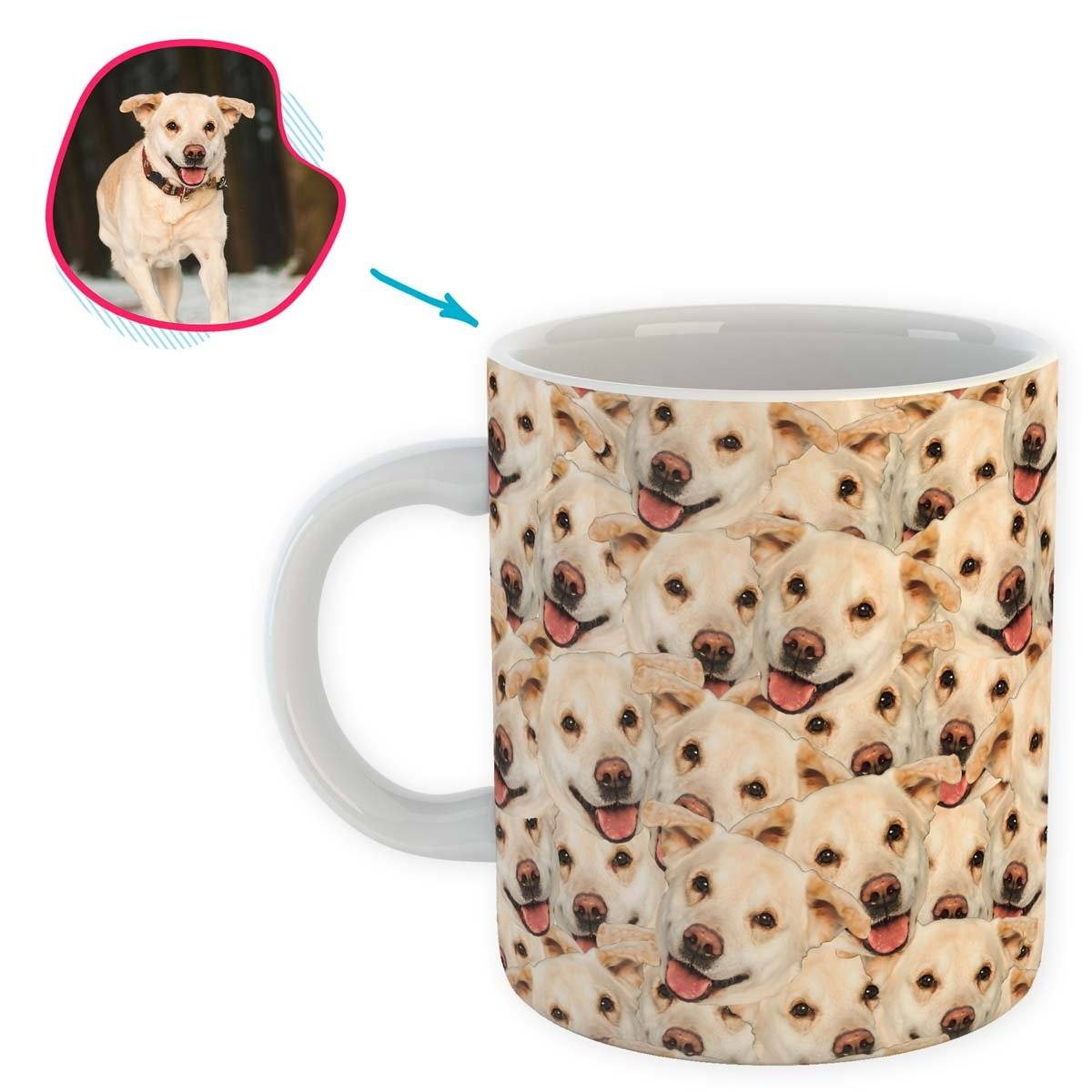 Dog Mash mug personalized with photo of face printed on it