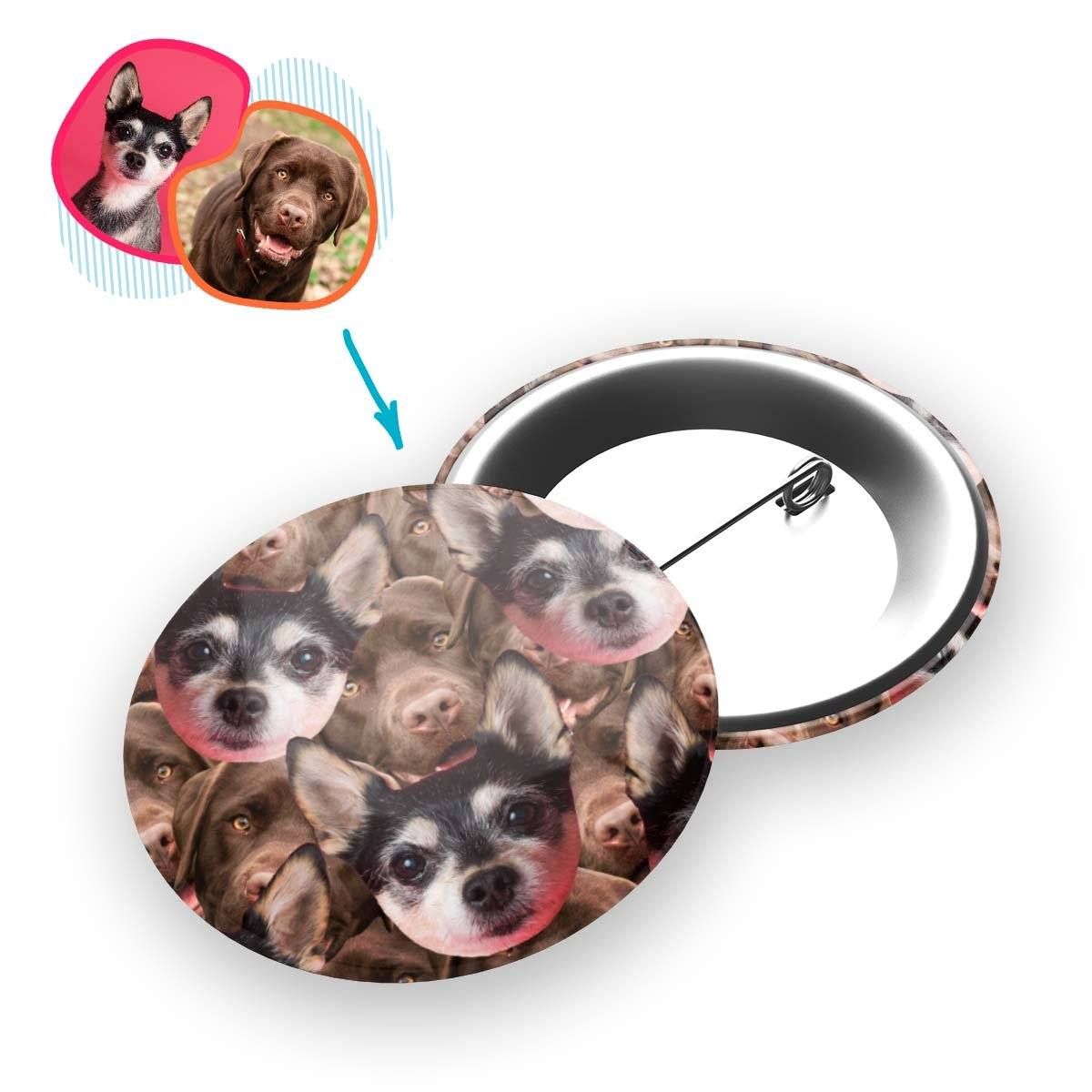 Dog Mash Personalized Pin Button