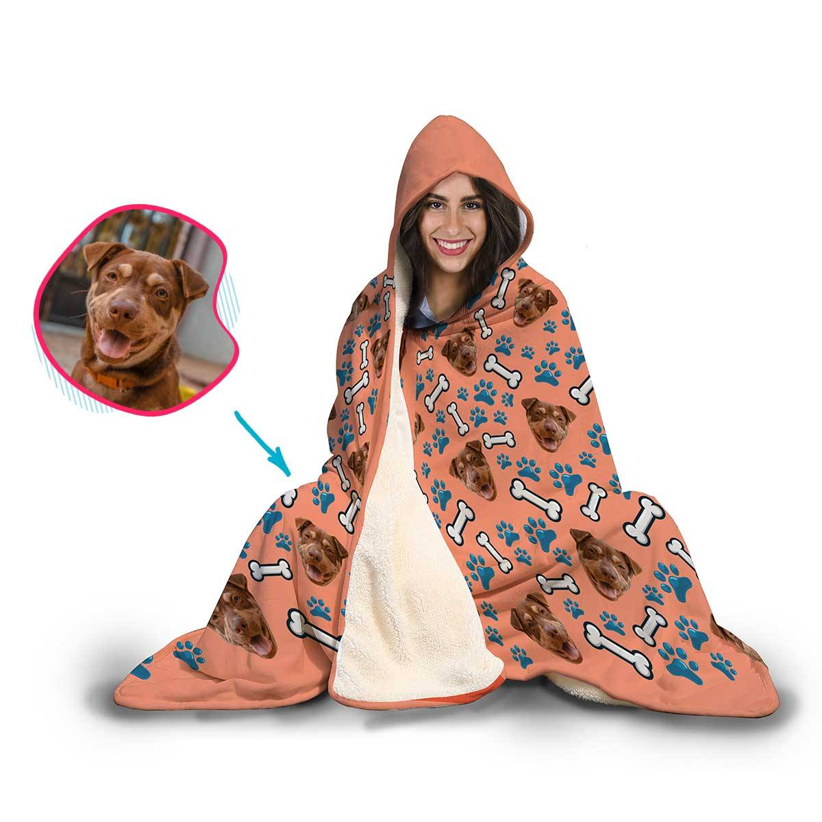 Dog Personalized Hooded Blanket