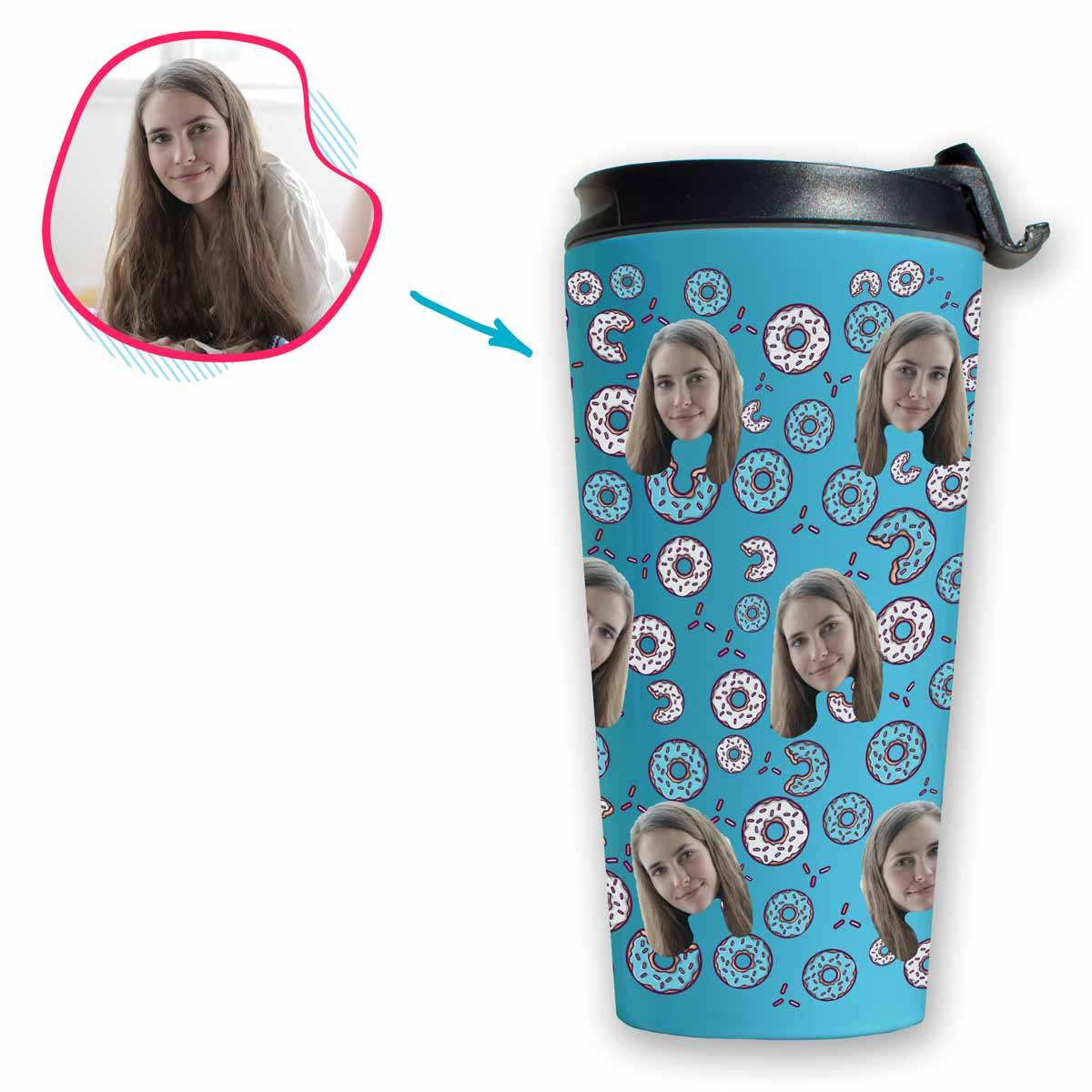 Donuts Personalized Travel Mug