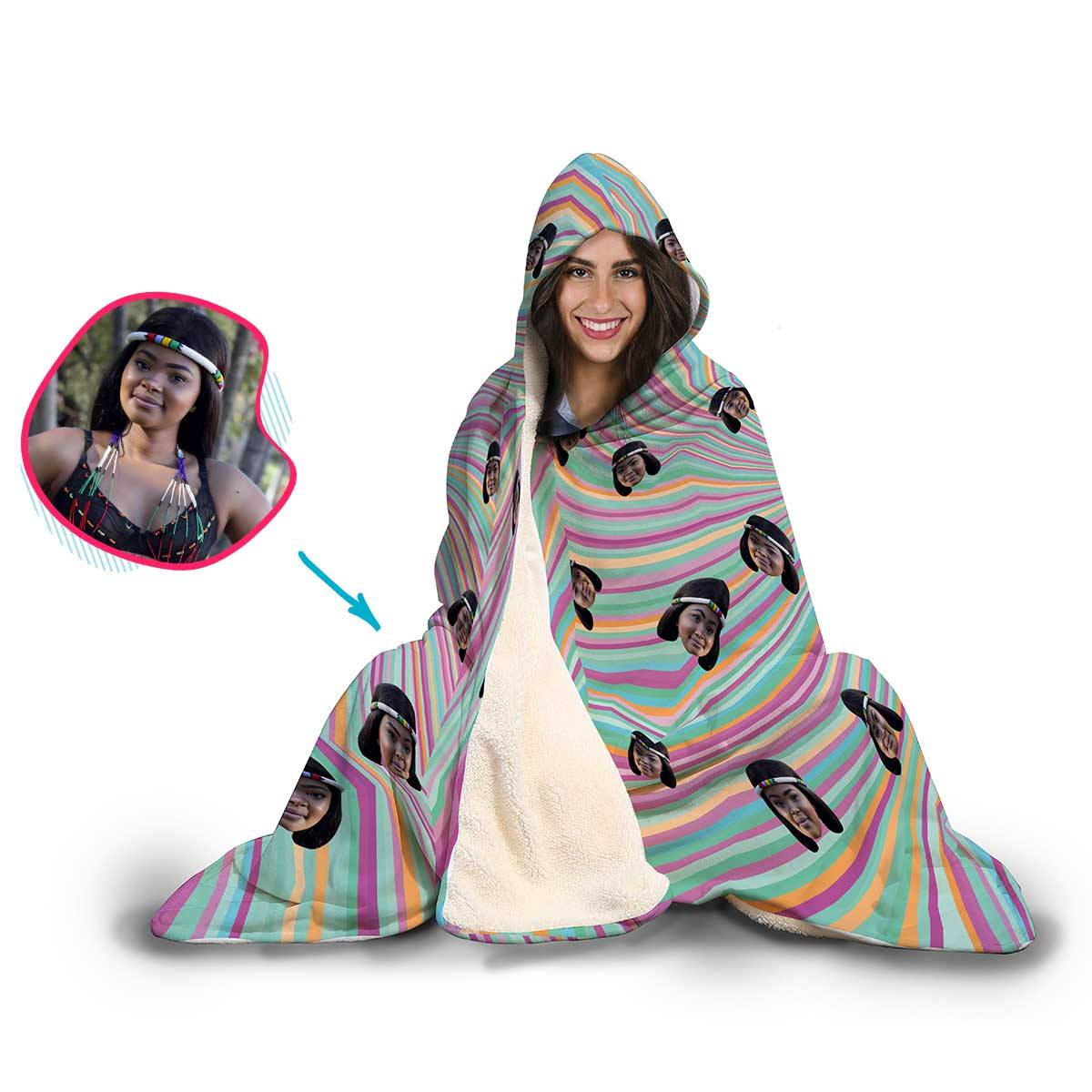 Fantasy Personalized Hooded Blanket