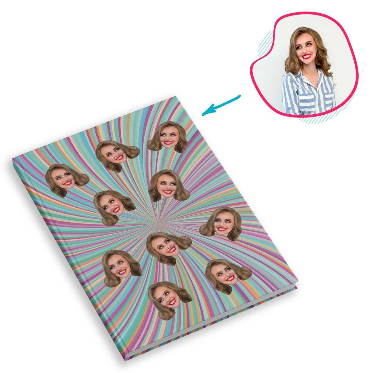 fantasy Fantasy Notebook personalized with photo of face printed on them