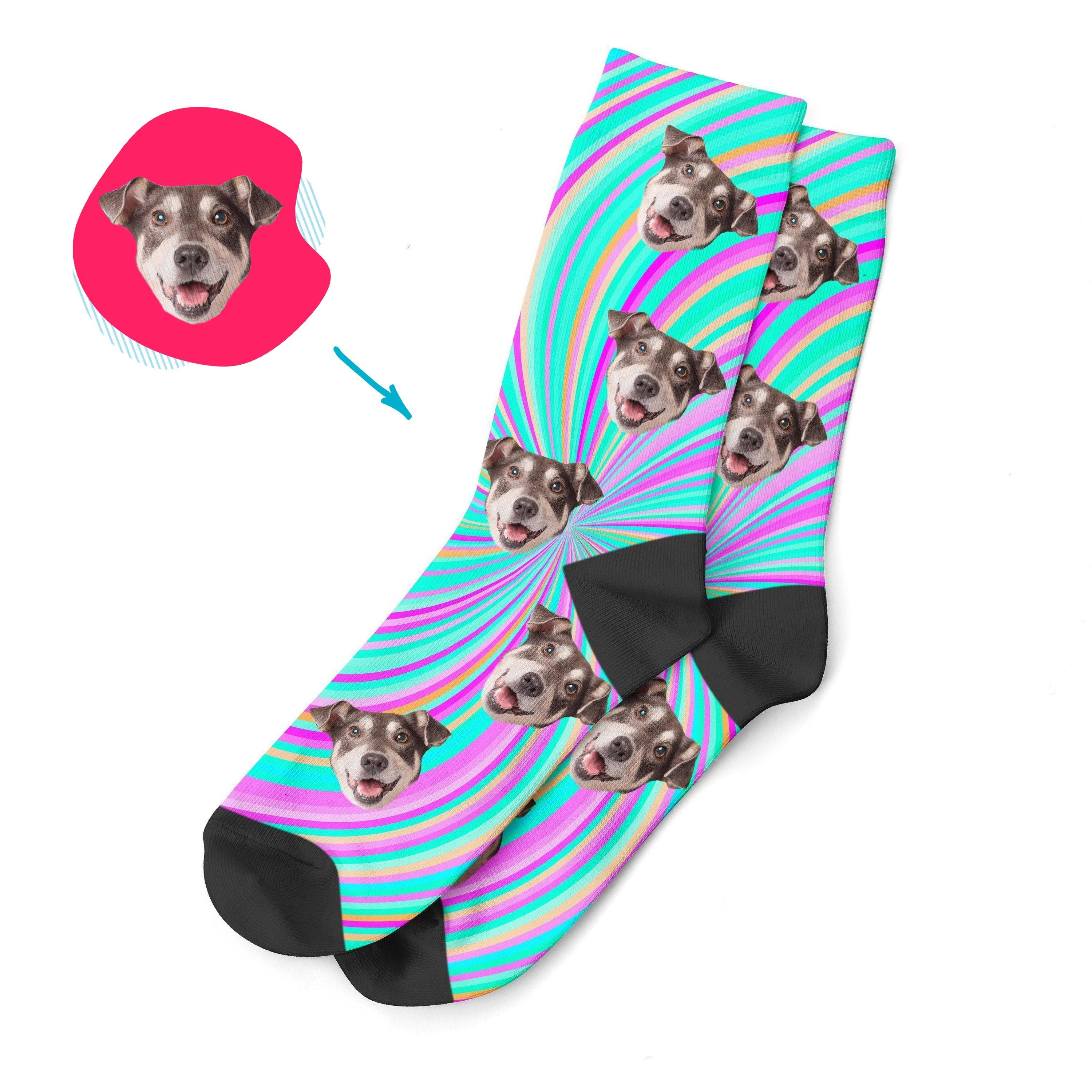 fantasy Fantasy socks personalized with photo of face printed on them