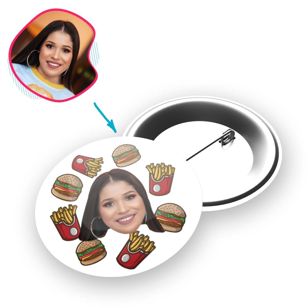 Fastfood Personalized Pin Button