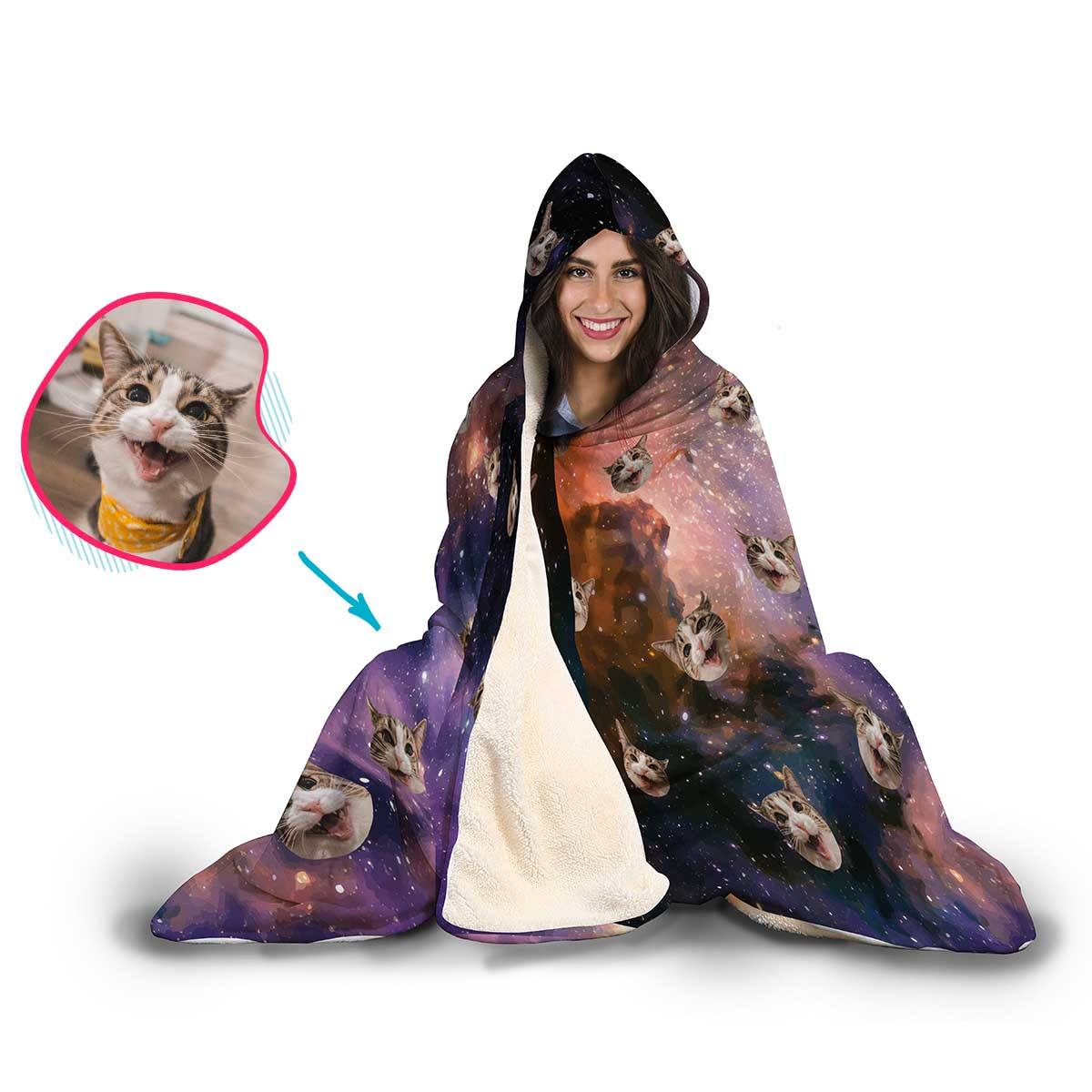 Galaxy Personalized Hooded Blanket