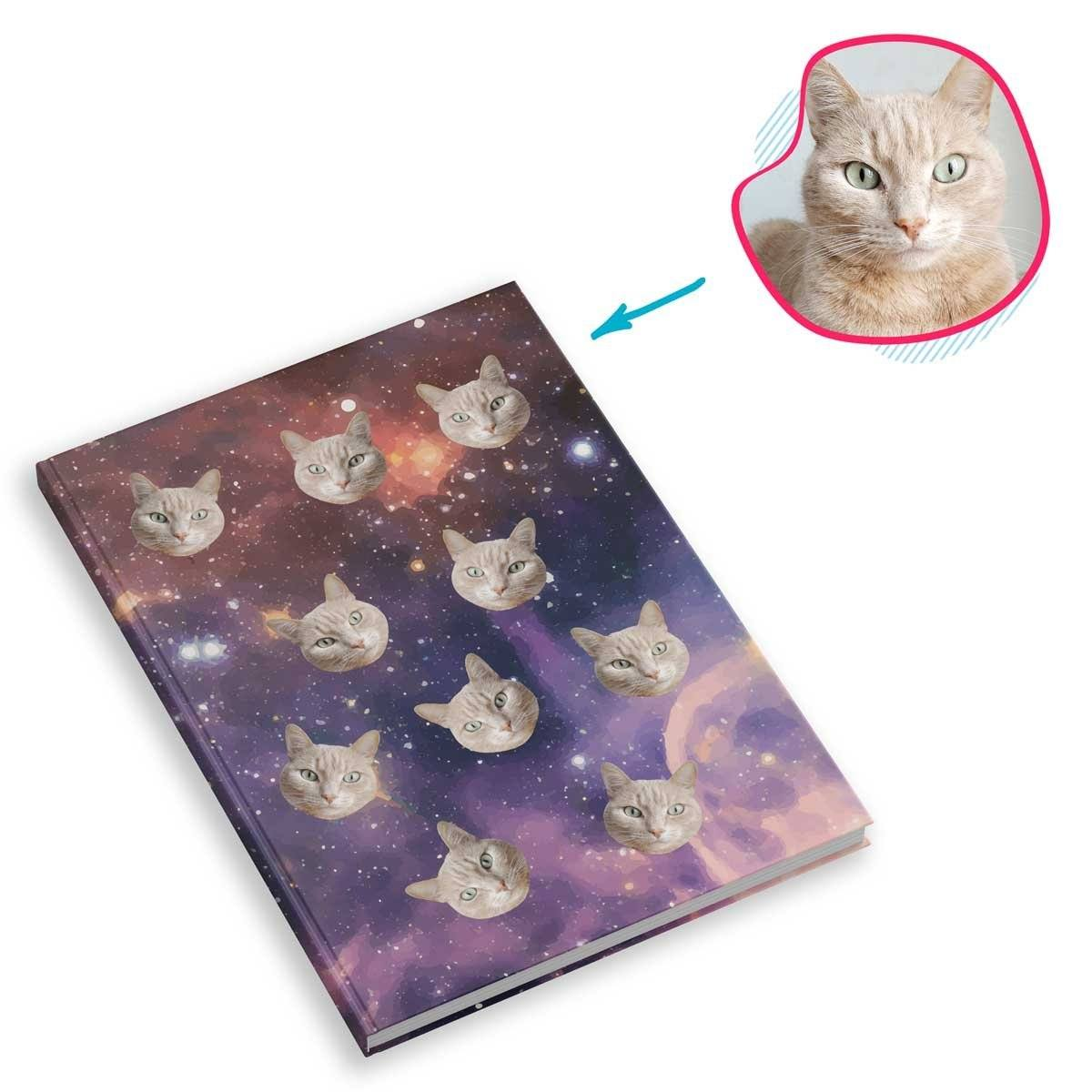 galaxy Galaxy Notebook personalized with photo of face printed on them