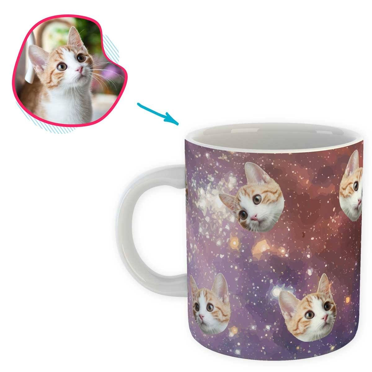 galaxy Galaxy mug personalized with photo of face printed on it