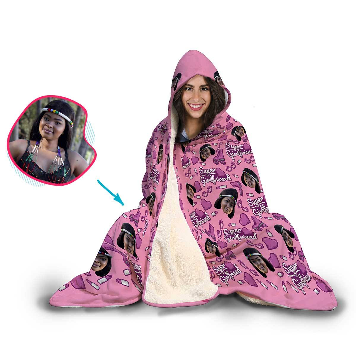 Girlfriend Personalized Hooded Blanket