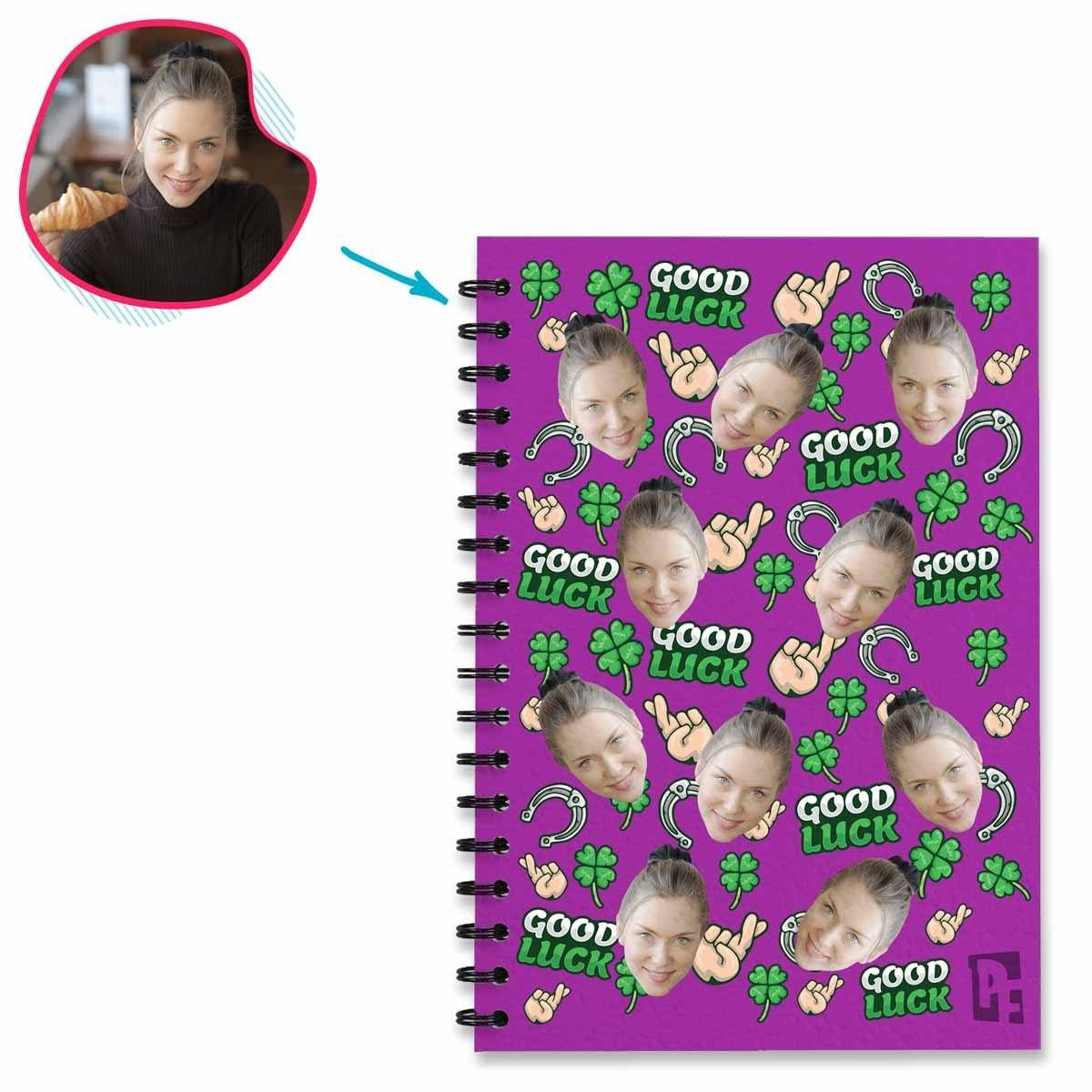 Good Luck Personalized Notebook