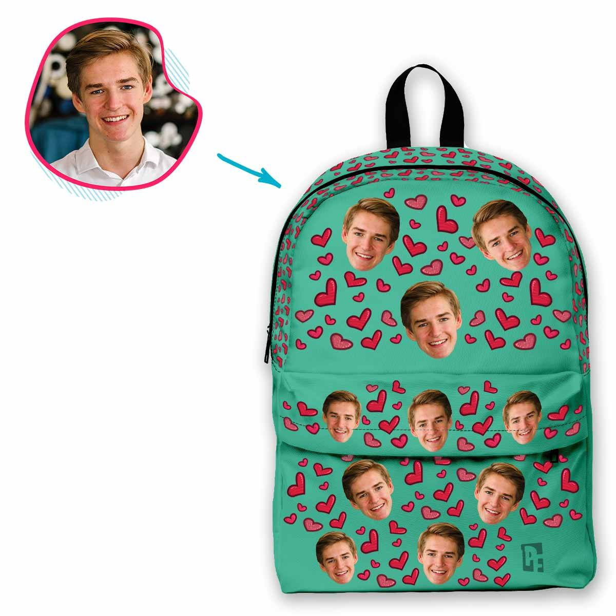 Heart Personalized Classic Backpack