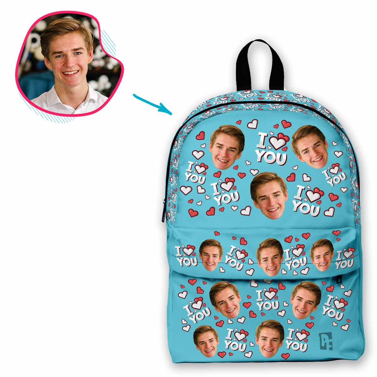 I Love You Personalized Classic Backpack