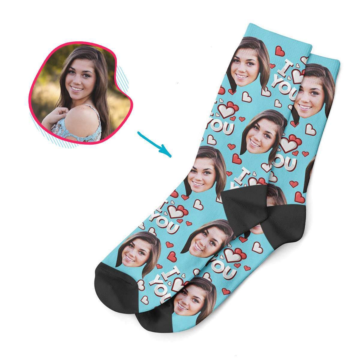 I Love You Personalized Socks