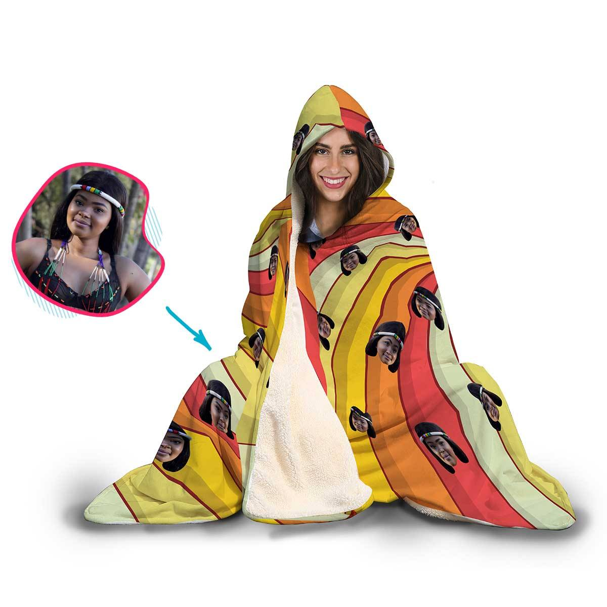 Illusion Personalized Hooded Blanket