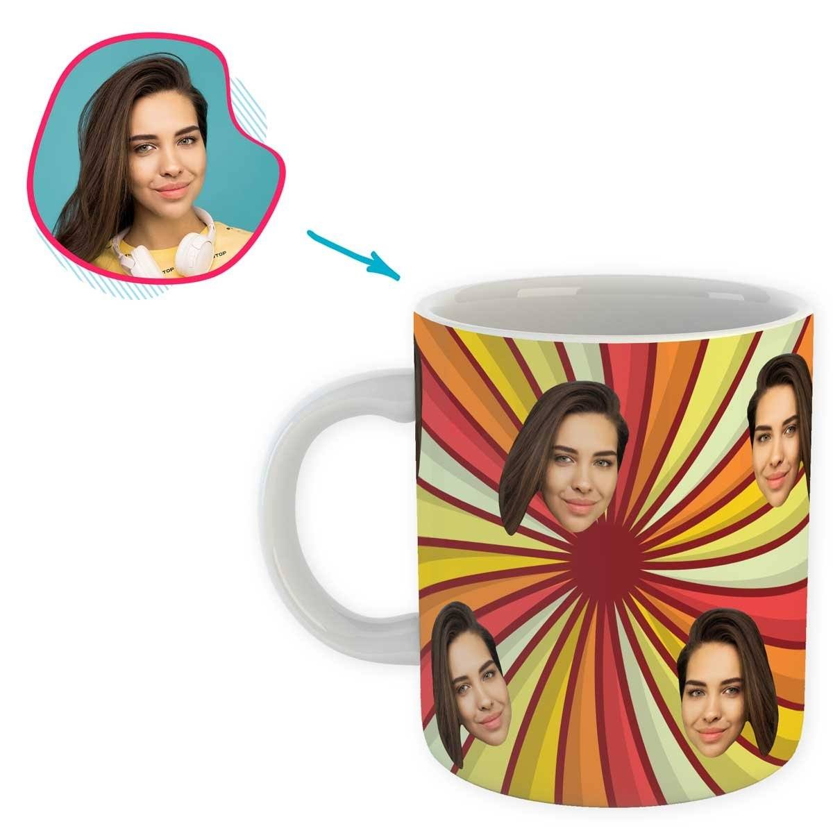 illusion Illusion mug personalized with photo of face printed on it