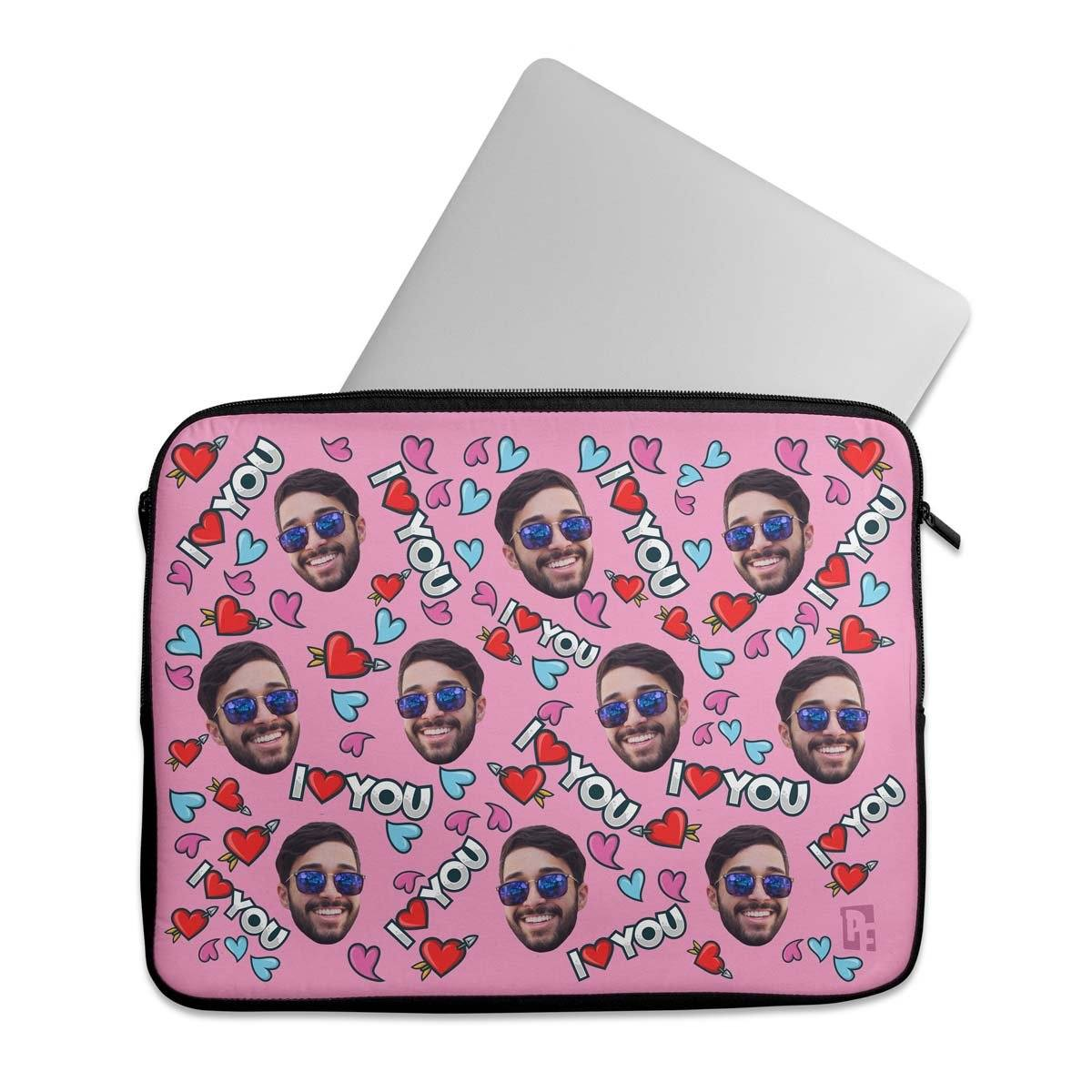 Love You Personalized Laptop Sleeve
