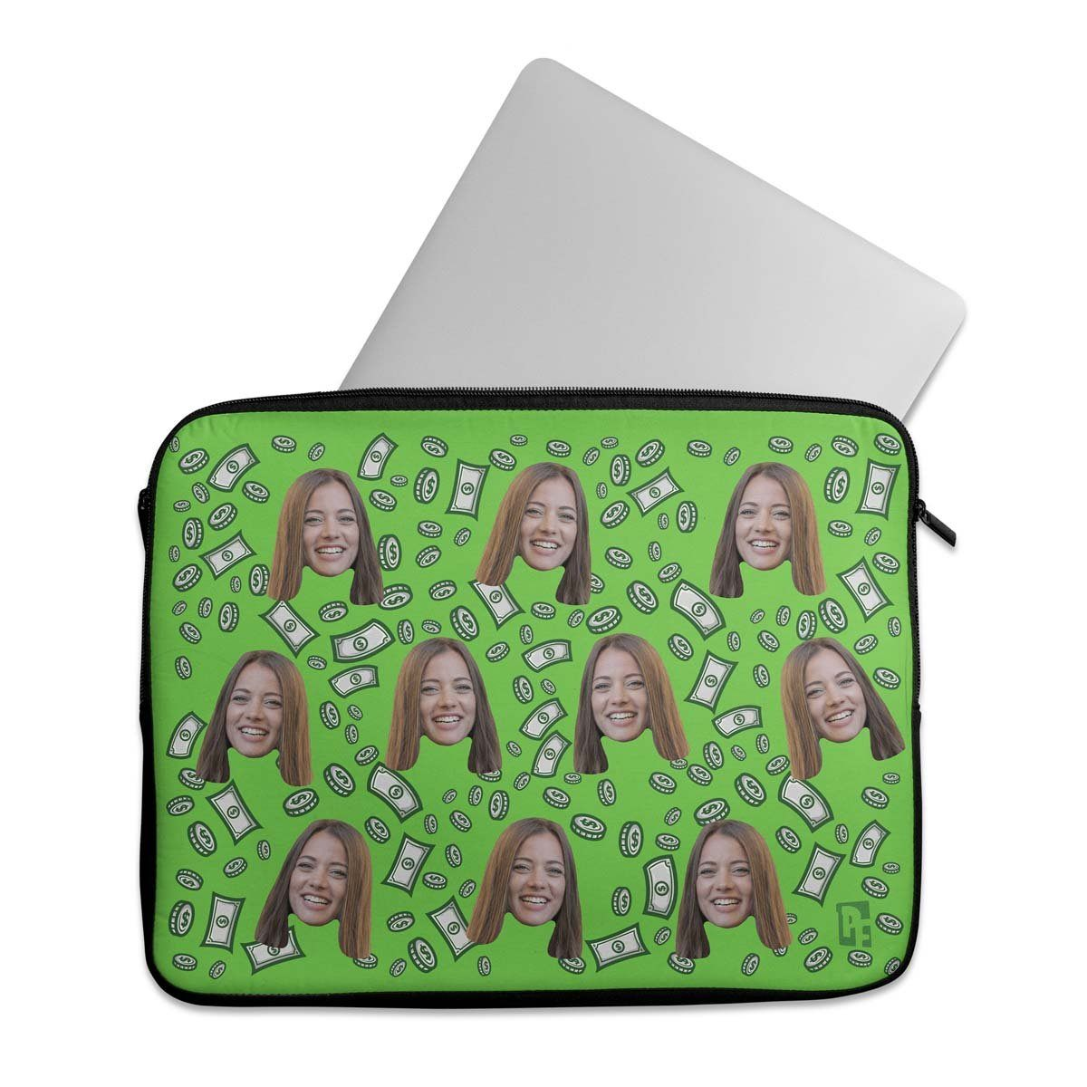 Money Personalized Laptop Sleeve