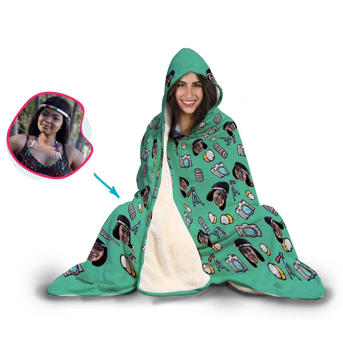 Photography Personalized Hooded Blanket
