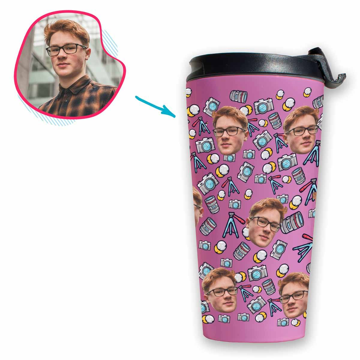 Photography Personalized Travel Mug