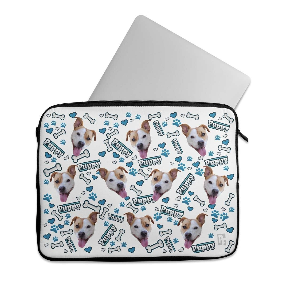 Puppy Personalized Laptop Sleeve