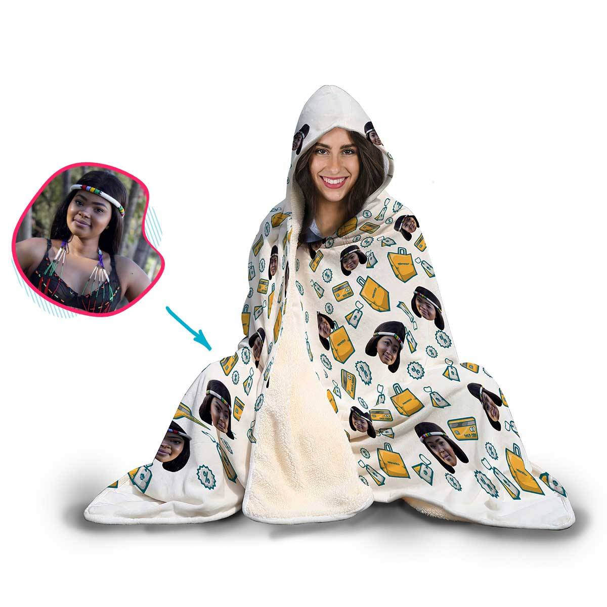 Shopping Personalized Hooded Blanket