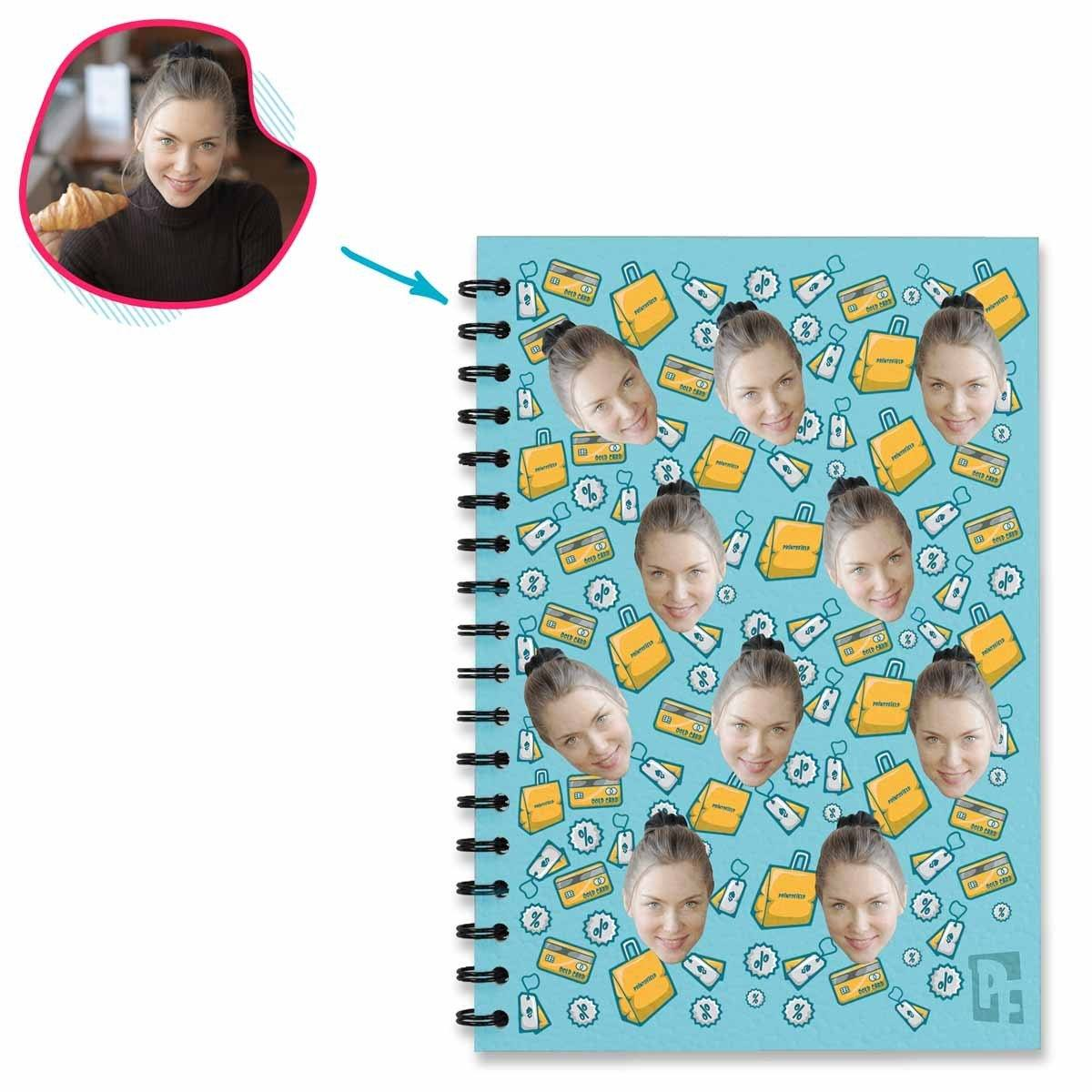 Shopping Personalized Notebook