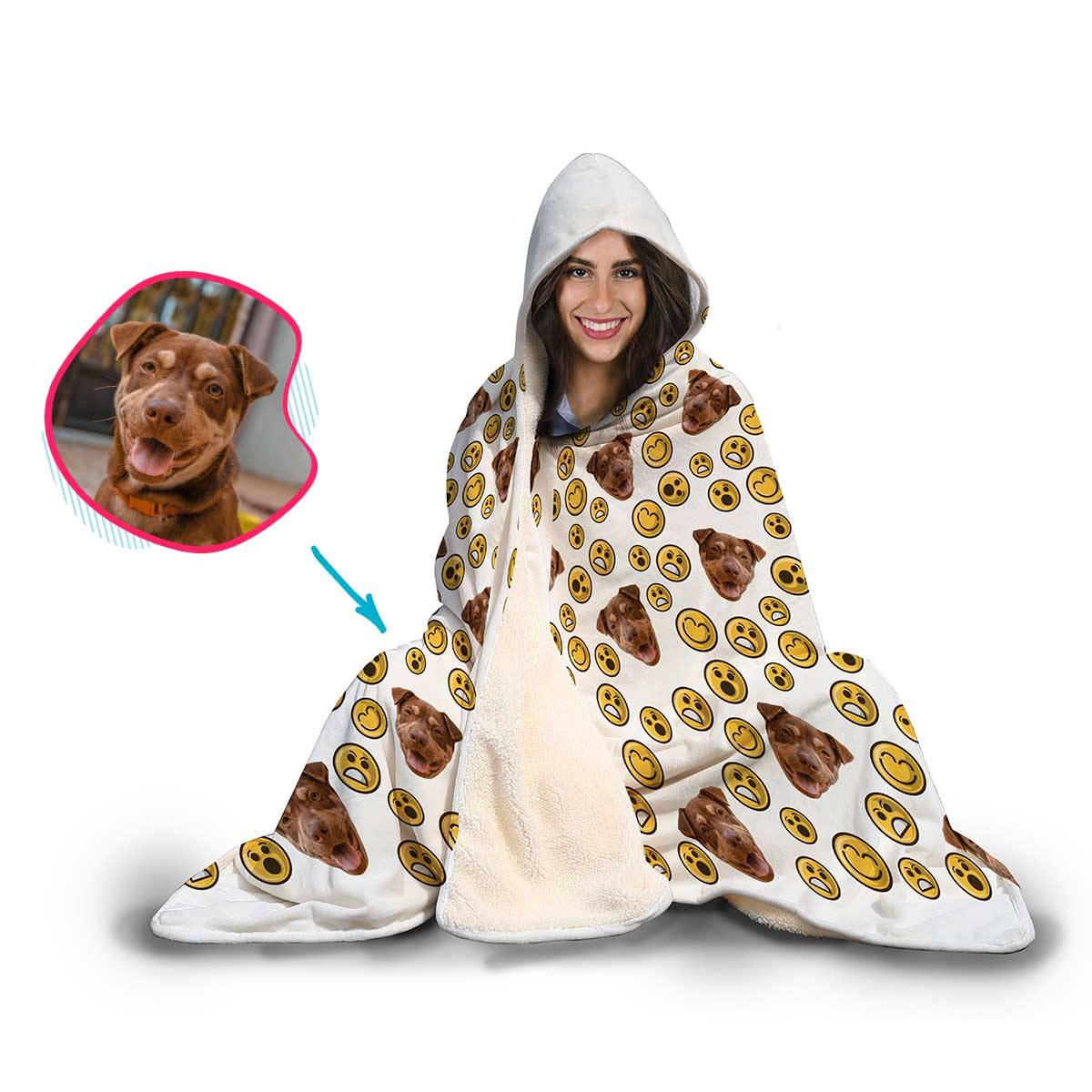 Smiles Personalized Hooded Blanket