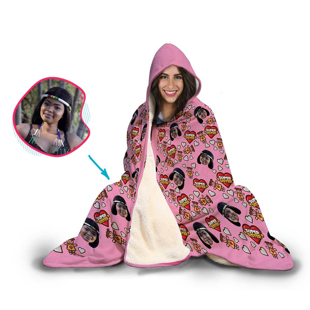 Super Sister Personalized Hooded Blanket