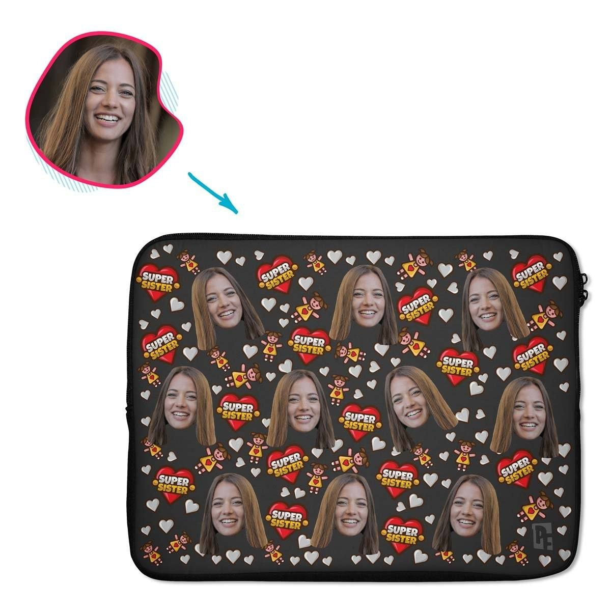 Super Sister Personalized Laptop Sleeve